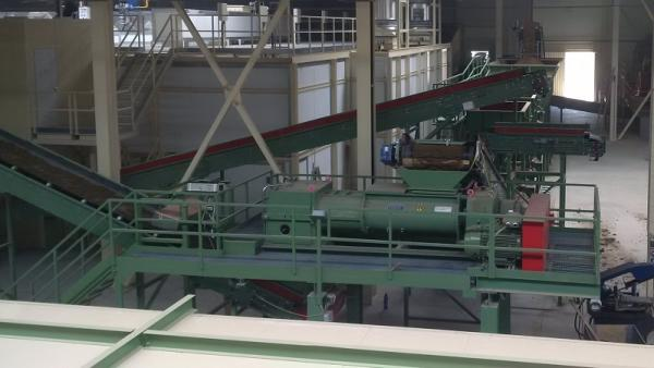 Double shaft mixer (with grids) and automatic wetting system