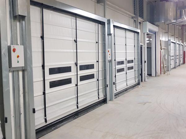 Automatic plastic doors