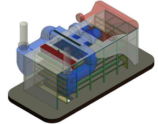 DRYERS WITH TURNING CONVEYORS