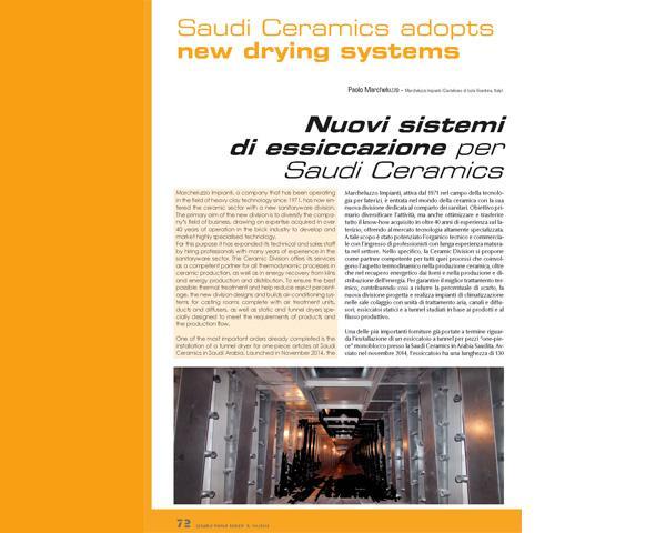 Marcheluzzo Ceramics and Saudi Ceramics